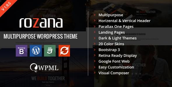 Rozana - Responsive MultiPurpose WordPress Theme - Corporate WordPress