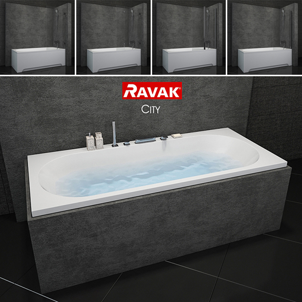 Bath Ravak City - 3DOcean Item for Sale