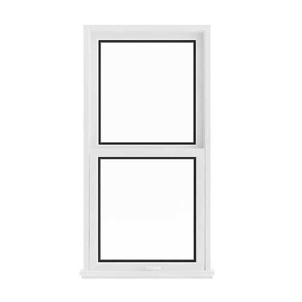 White Window (143.5 x 72 cm) - 3DOcean Item for Sale