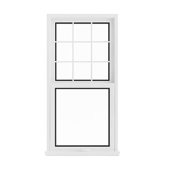 White Window (143.5 x 72 cm) - 3DOcean Item for Sale