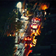 Cars On Wet City Road At Night - VideoHive Item for Sale
