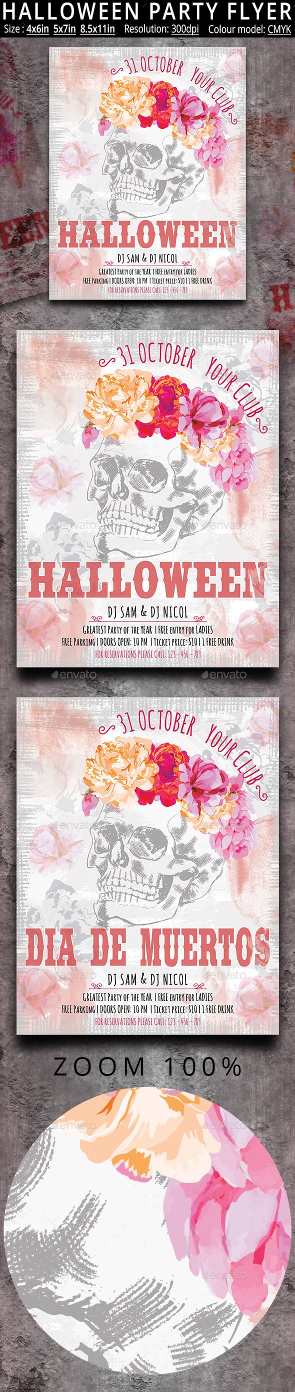 Halloween Flyer Party Flyer Poster