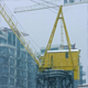 Crane Near Buildings In Heavy Snowfall - VideoHive Item for Sale
