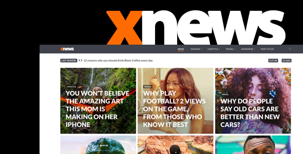 Xnews - WordPress Theme for Magazine / News / Blog