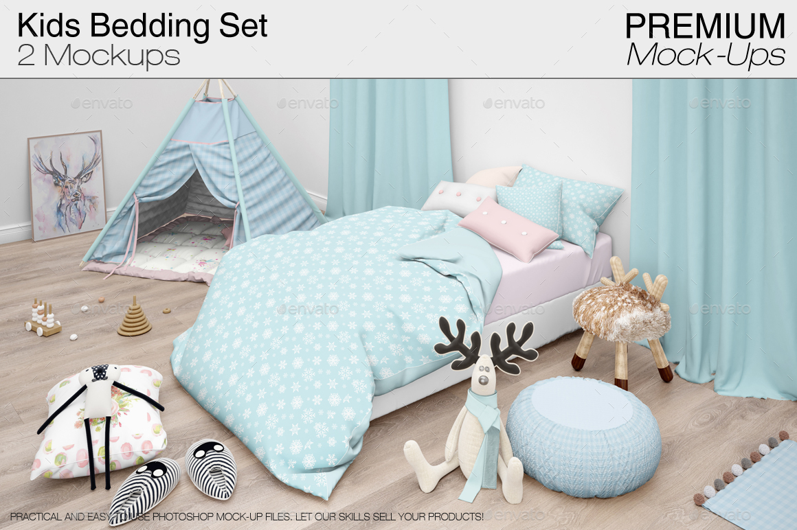 Kids Bedding Set   Miscellaneous Product Mock Ups. 1 PREVIEW ...