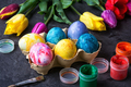colouring eggs for eastertime