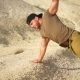 Sporty Man Does Push-up From the Ground, He Strengthens the Muscles of His Hands - VideoHive Item for Sale