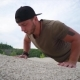 Man Doing Push-ups During Outdoor Training - VideoHive Item for Sale
