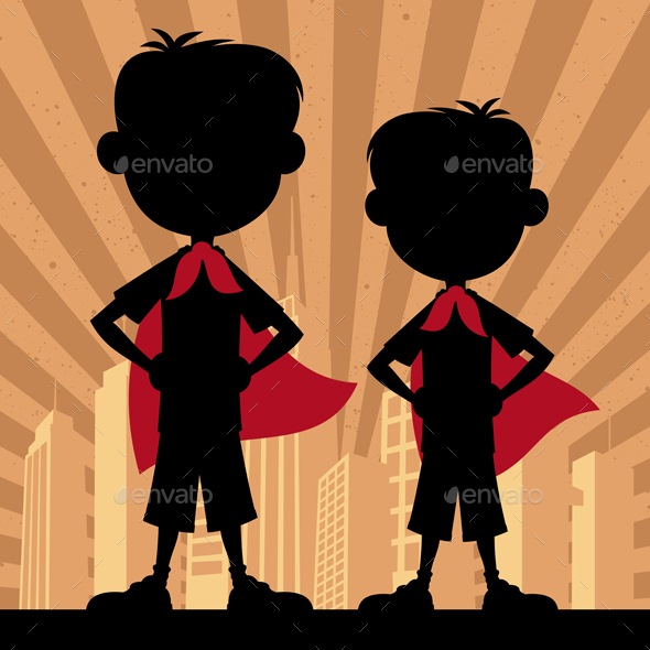 GraphicRiver Super Kids 2 Boys 20598526