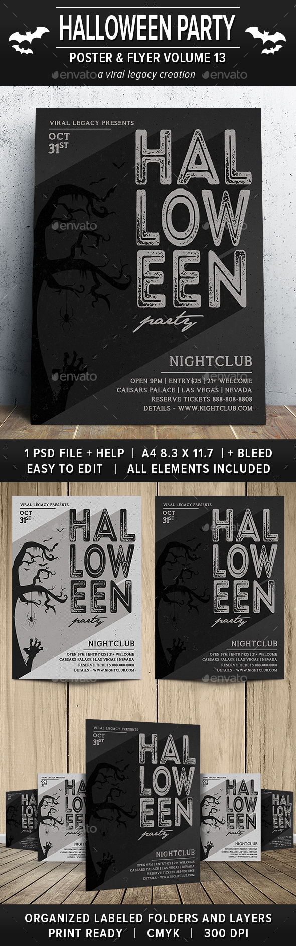 Halloween Party Poster / Flyer V13