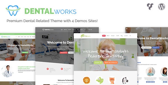 DentalWorks - Dental Related WordPress Theme by CreativelyCoded [20285140]
