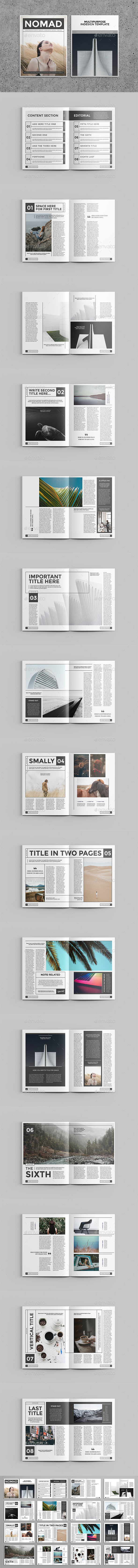 Nomad Magazine Template - Magazines Print Templates