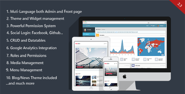 Botble - Laravel CMS, CRUD generator, Modular & Theme system, Role pemissions, Multilingual blog - CodeCanyon Item for Sale