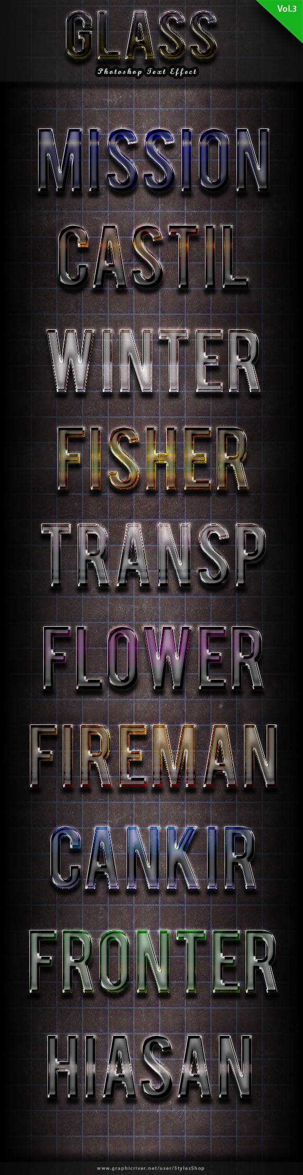Glass Text Effect vol 3 - Text Effects Styles