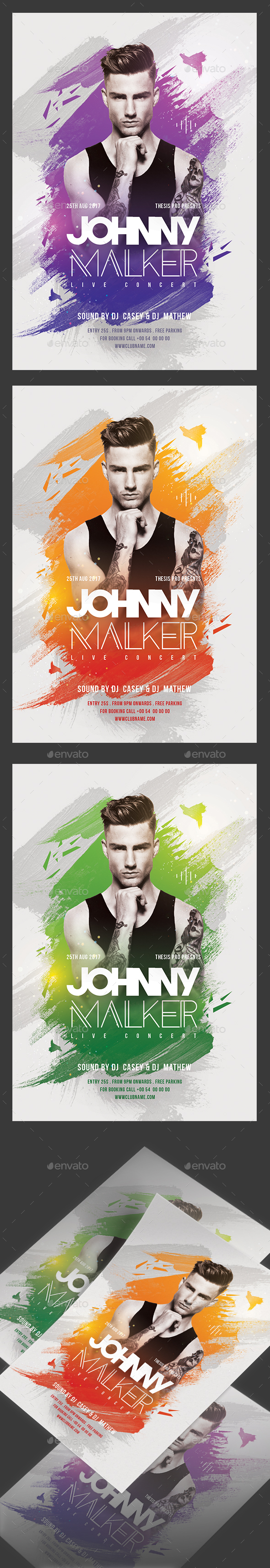 Dj Performance Flyer - Clubs & Parties Events