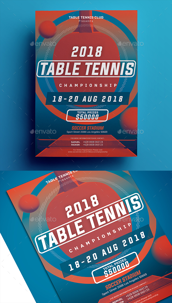 Table Tennis Championship Flyer - Sports Events