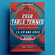 Table Tennis Championship Flyer - GraphicRiver Item for Sale