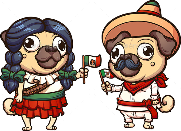 Mexican Pugs - Animals Characters