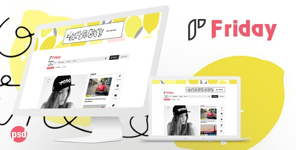 Friday – PSD Template for Viral Content Website