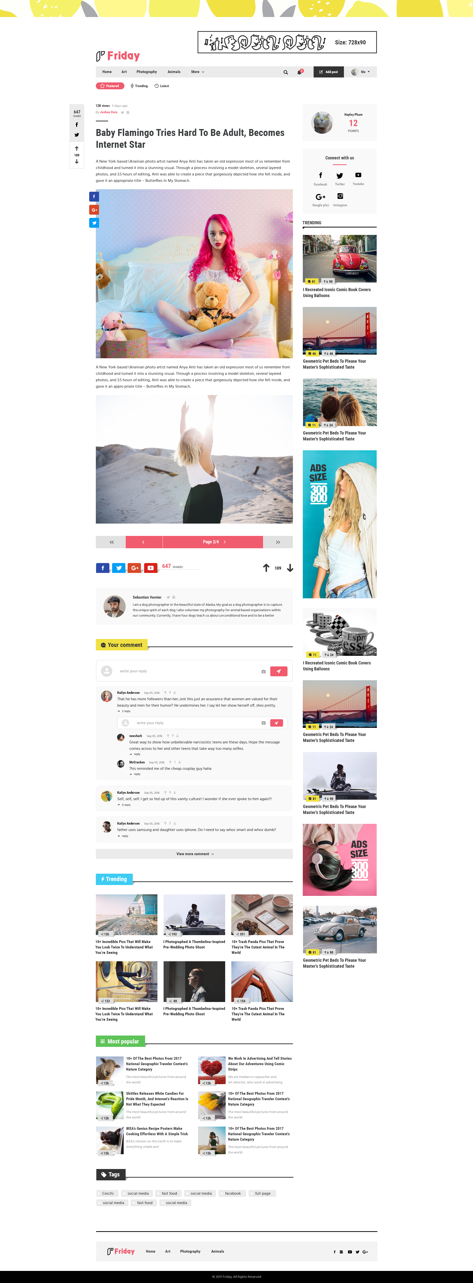 Friday PSD Template For Viral Content Website By Wpstylish - Photo contest website template
