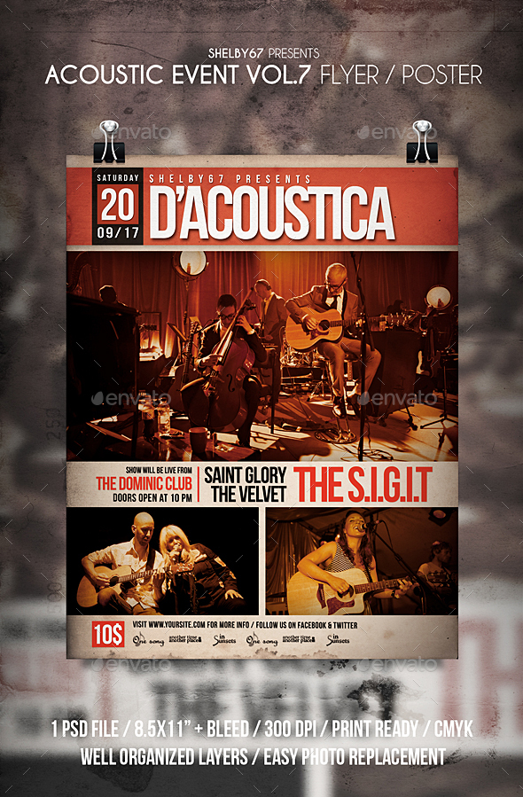 Acoustic Event Flyer / Poster Vol 7 - Events Flyers
