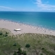 Italy, the Beach of the Adriatic Sea. Rest on the Sea Near Venice