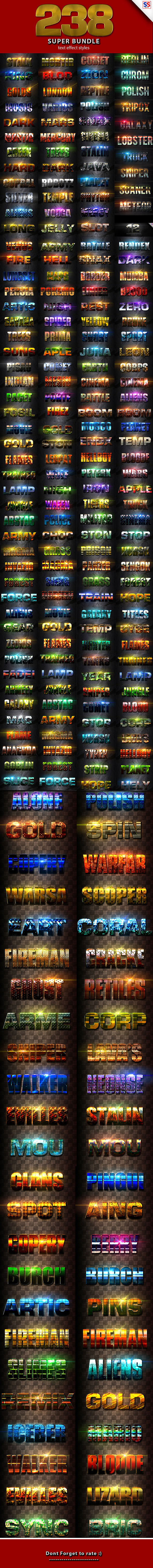 238 Super Bundle Text Effect - Text Effects Styles