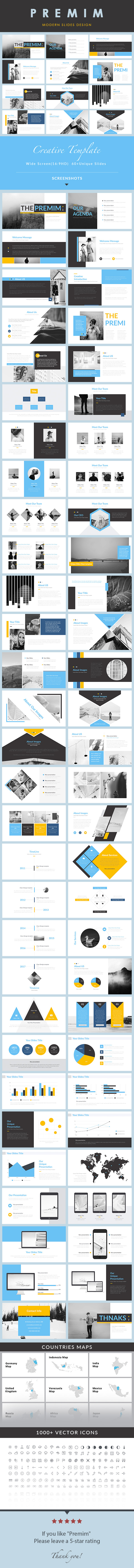 Premim - Creative PowerPoint Presentation Template - Creative PowerPoint Templates