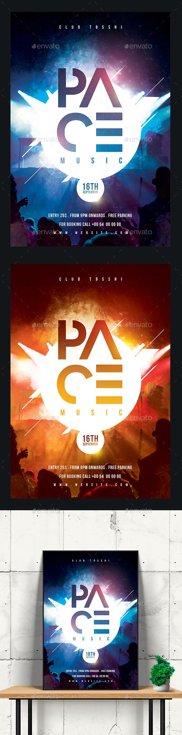DJ Concert Flyer/Poster - Clubs & Parties Events