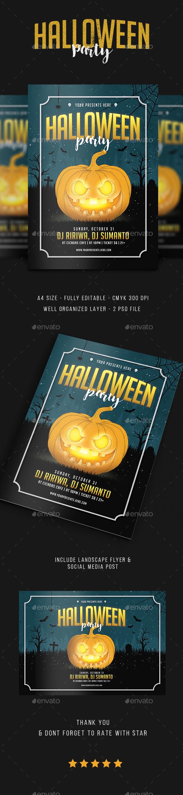 Halloween flyer vol.3 - Flyers Print Templates