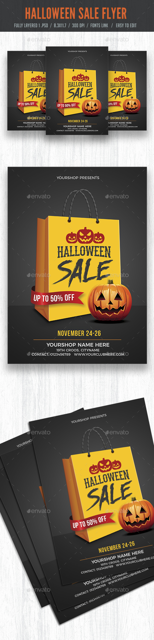 Halloween Sale Flyer Poster - Events Flyers