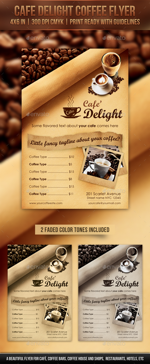 Cafe Delight Coffee Flyer - Restaurant Flyers