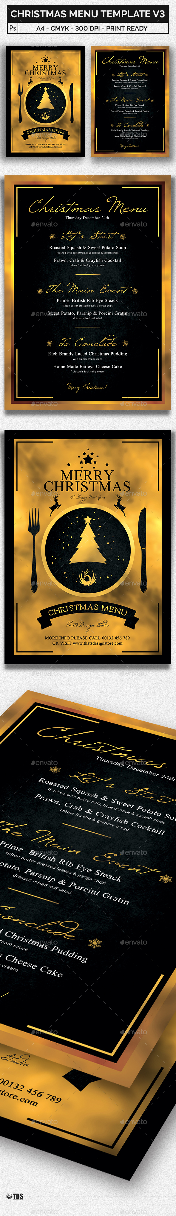 Christmas Menu Template V3