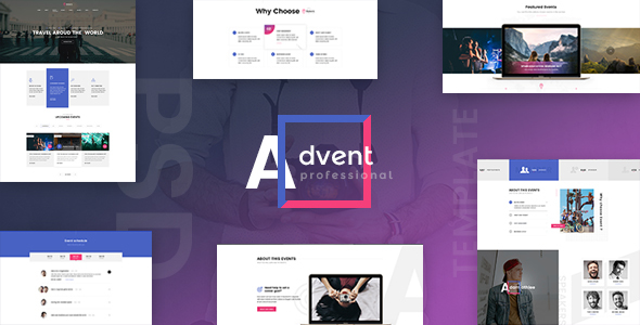 ADVENT - Event Management PSD Template - Events Entertainment