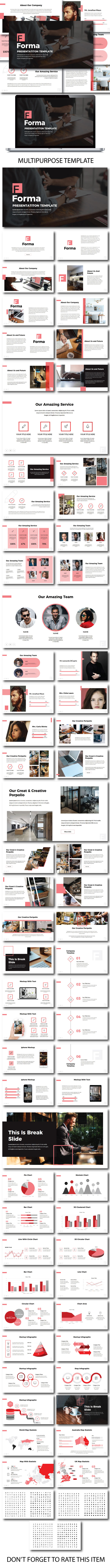 Forma Pitch Deck PowerPoint - PowerPoint Templates Presentation Templates