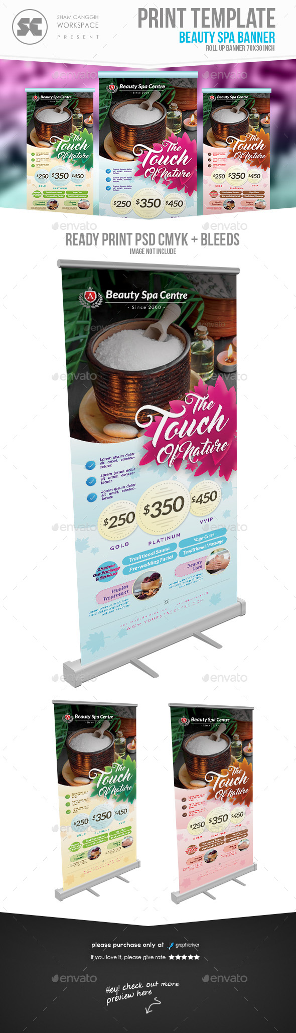 Beauty Spa Banner - Signage Print Templates