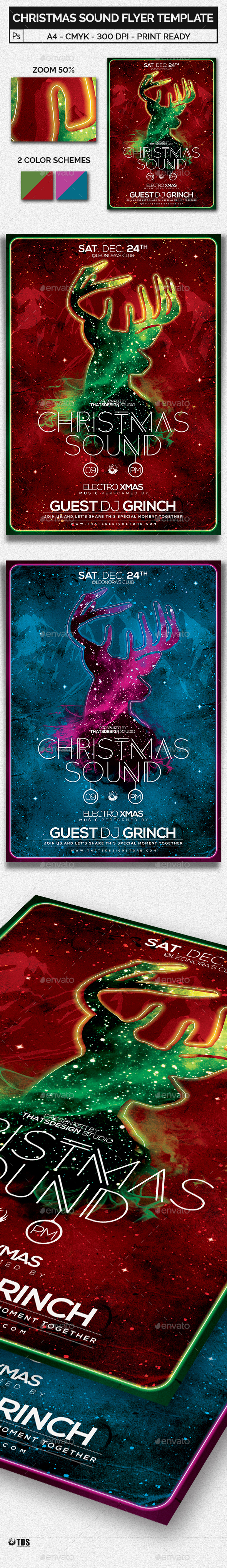 Christmas Sound Flyer Template - Holidays Events