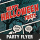 Comic Halloween Party Flyer