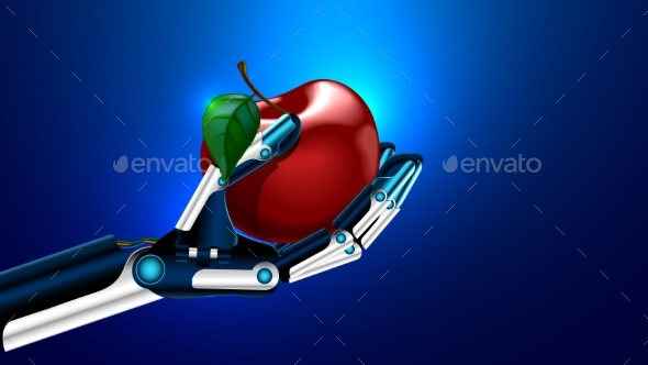 An Artificial Limb Holding a Apple - Miscellaneous Conceptual