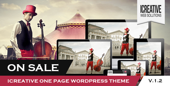 iCreative - OnePage Portfolio WordPress Theme - Portfolio Creative