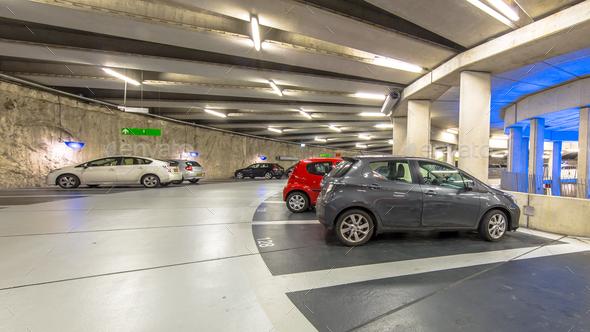 Circular Underground parking - Stock Photo - Images