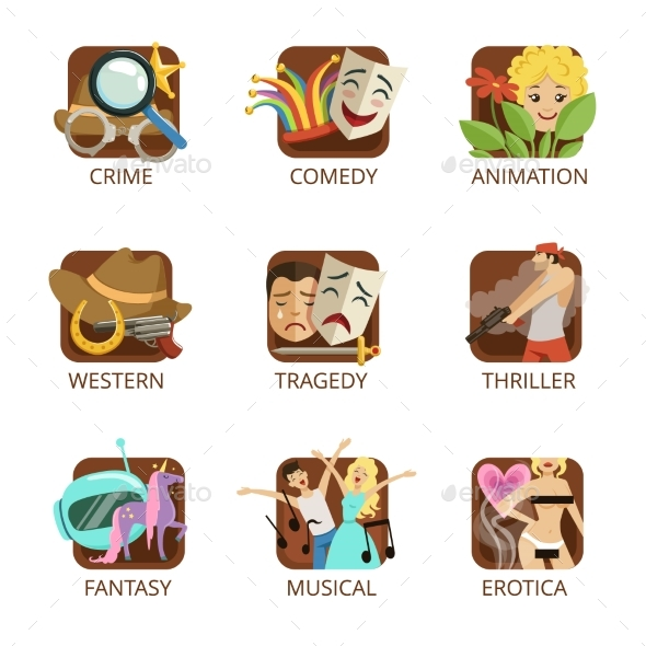 Movie Genres Set - Miscellaneous Vectors