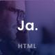 Ja - Advanced Personal Resume / CV vCard Template