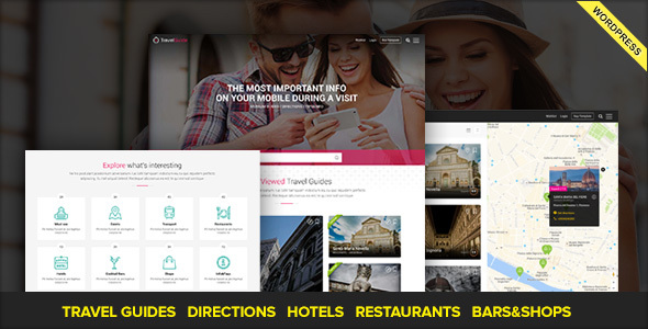 TRAVELGUIDE - Guides, Places and Directions WordPress Theme