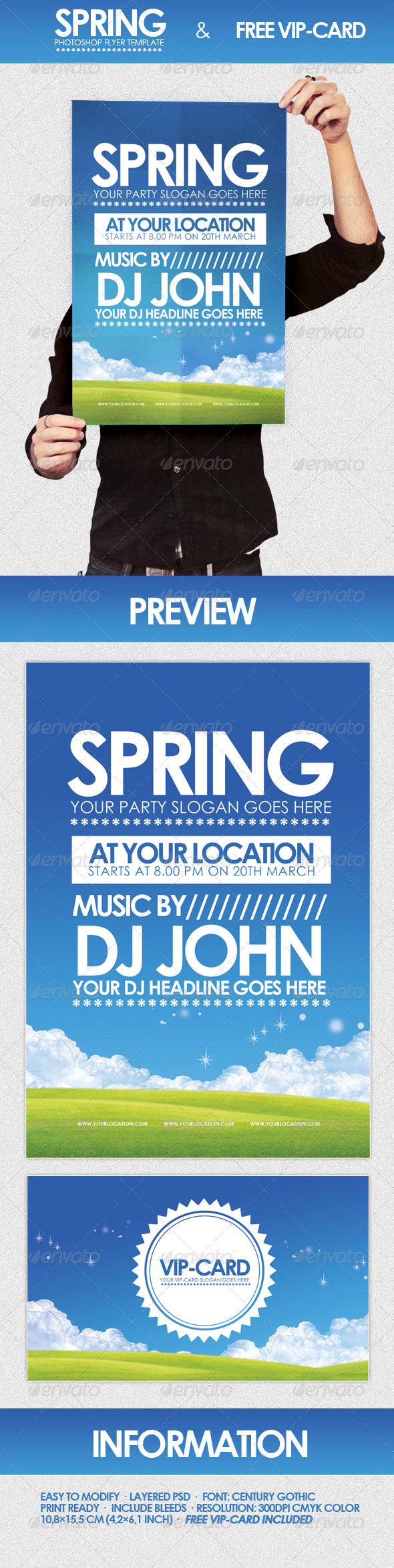 Spring - Flyer Template - Clubs & Parties Events