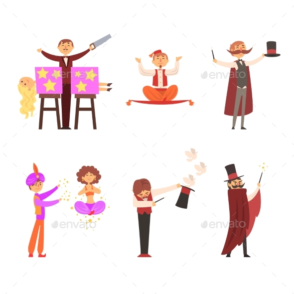 GraphicRiver Magician in the Circus Show Magic Tricks Magic 20600732