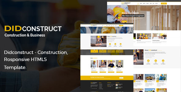 Didconstruct- Construction and Business Responsive HTML5 Template.