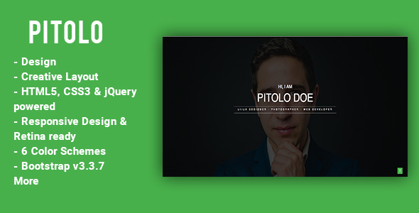 Pitolo - Template HTML - Resume / CV Specialty Pages