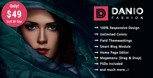 Danio - Fashion Responsive Prestashop 1.7 Theme