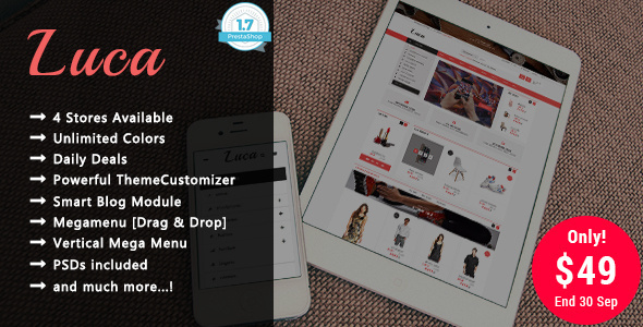 Luca - Shopping Responsive Prestashop 1.7 Theme
